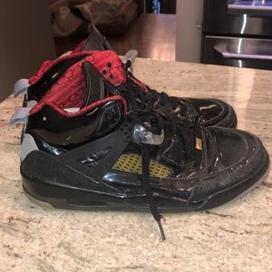 Black and red Jordans